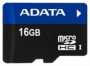 Карта памяти A-Data microSDHC UHS-I 16GB + SD adapter