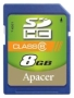 Apacer SDHC 8Gb Class 6