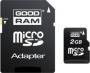 Карта памяти GOODRAM 2 GB microSD + SD adapter
