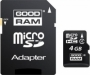 Карта памяти Goodram 4Gb microSDHC Class 4 (adapter SD)