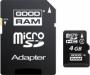 Карта памяти Goodram 4Gb microSDHC Class 4 (adapter SD)