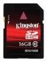 Карта памяти Kingston 16 GB SDHC Class 10