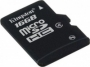Карта памяти Kingston 16 GB microSDHC class 4