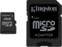 Карта памяти Kingston 2 GB microSD + SD adapter