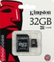 Карта памяти Kingston 32 GB microSDHC class 10 + SD Adapter