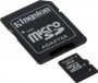 Карта памяти Kingston 4Gb microSDHC Class 4 (adapter SD)