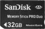 Карта памяти Sandisk Memory Stick PRO Duo 32Gb
