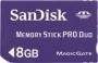 Карта памяти Sandisk Memory Stick PRO Duo 8Gb
