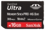 Карта памяти Sandisk Ultra Memory Stick PRO-HG Duo 16GB
