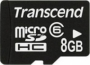 Карта памяти Transcend 8 GB microSDHC class 6