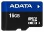 Карта памяти A-Data microSDHC UHS-I 16GB + SD adapter