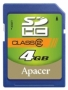 Apacer SDHC 4Gb Class 2