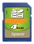 Apacer SDHC 4Gb Class 4