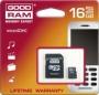Карта памяти GOODRAM 16 GB microSDHC class 4 + SD Adapter