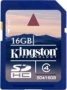 Карта памяти Kingston 16Gb SDHC Class 4