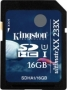 Карта памяти Kingston 16Gb SDHC UltimateXX UHS-I