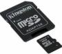 Карта памяти Kingston 16Gb microSDHC Class 4 (adapter SD)