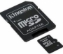 Карта памяти Kingston 16Gb microSDHC Class 4 (adapter SD)