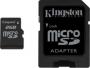 Карта памяти Kingston 2 GB microSD + SD adapter