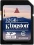 Карта памяти Kingston 32Gb SDHC Class 4