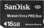 Карта памяти SanDisk Memory Stick Pro Duo 16Gb