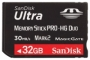 Карта памяти Sandisk Ultra Memory Stick PRO-HG Duo 32GB